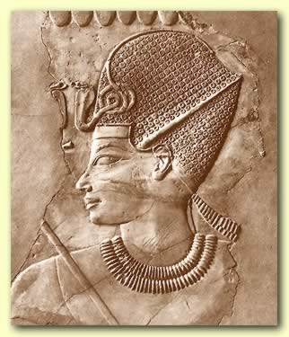 Amenhotep III wearing the Blue Crown